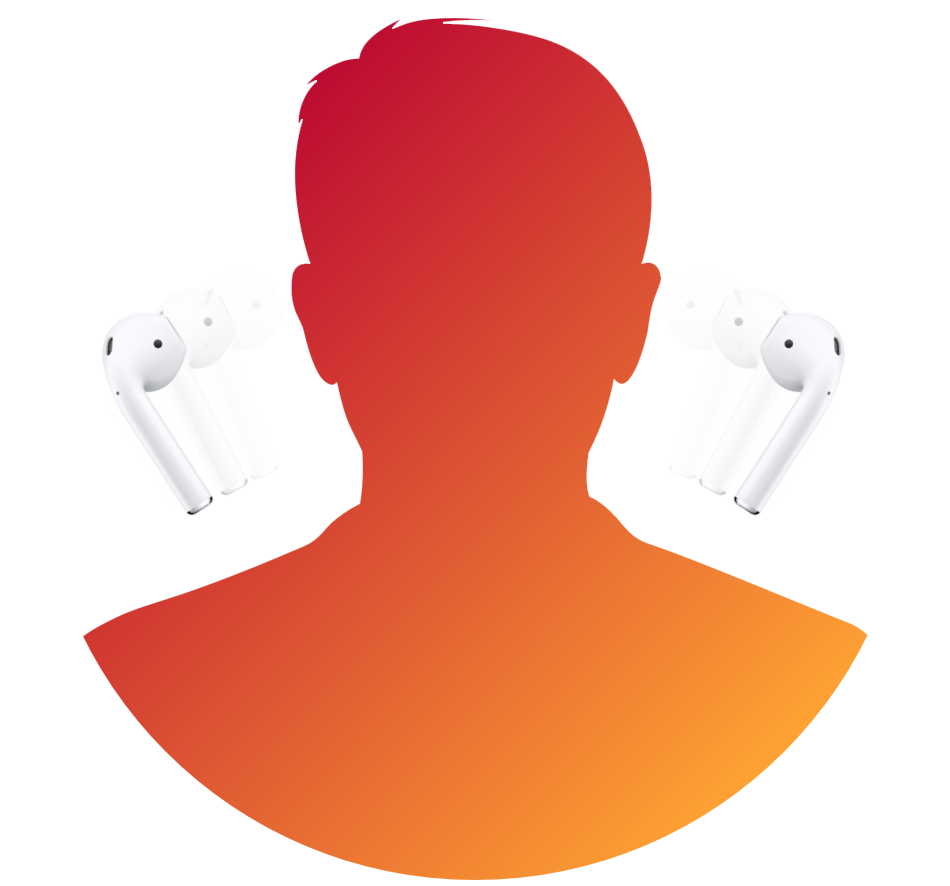 An avatar that shows AirPods taken of of its ears
